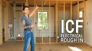 ICF Mountain Homestead: Starting Electrical Rough In