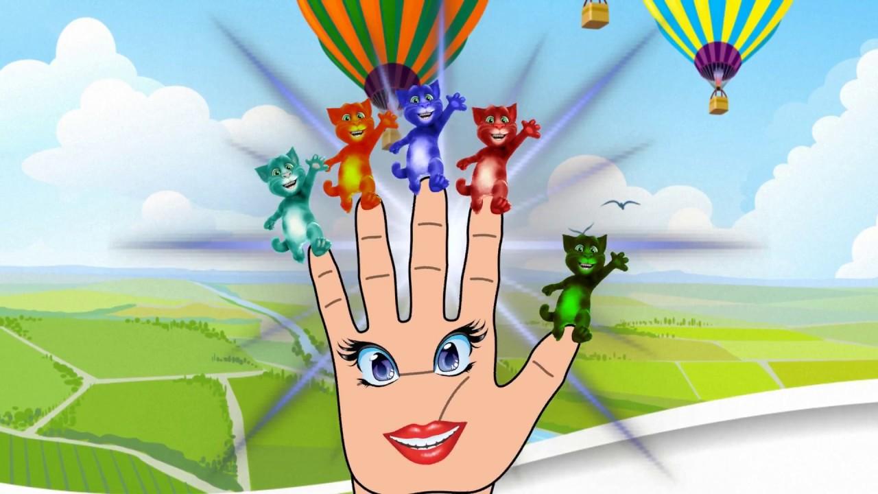 Кот том на пальчиках