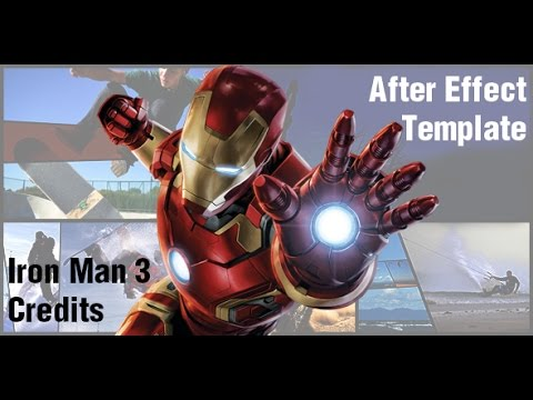 Iron Man 3 End Credits After Effect Template Videohive Youtube