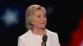 Did Hillary Clinton appeal to Bernie Sanders supporters in acceptance speech?