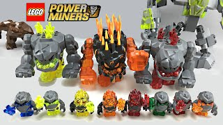 ALL LEGO Power Miners Rock / Lava Monsters minifigures collection!