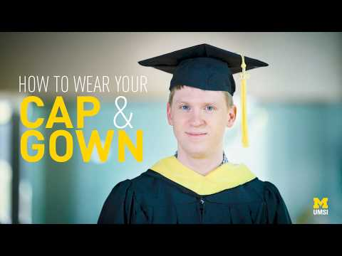 How To Wear Your Graduation Cap And Gown