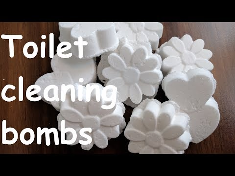 Toilet cleaning bombs