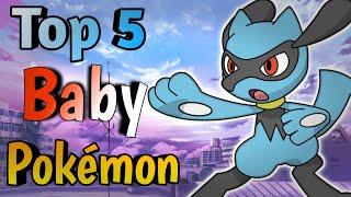 Top 5 Baby Pokemon | Hindi Pokevilla z
