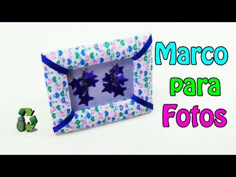 Como hacer Marco para Fotos (Reciclaje) Ecobrisa. - YouTube