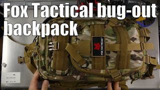 Fox Outdoor Bug-Out Tactical Military backpack unboxing and review