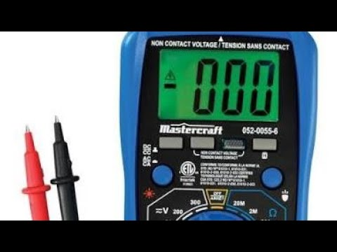 Mastercraft 052 0055 6 Multimeter Review YouTube