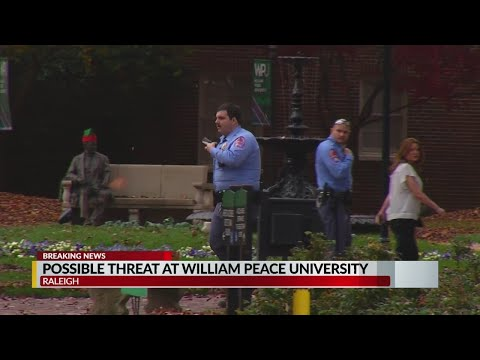 All clear given after possible gunman reported at William Peace University in Raleigh, police say