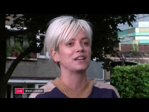 Lilly Allen The government is trying to micromanage grief Channel 4 News 15 06 2017