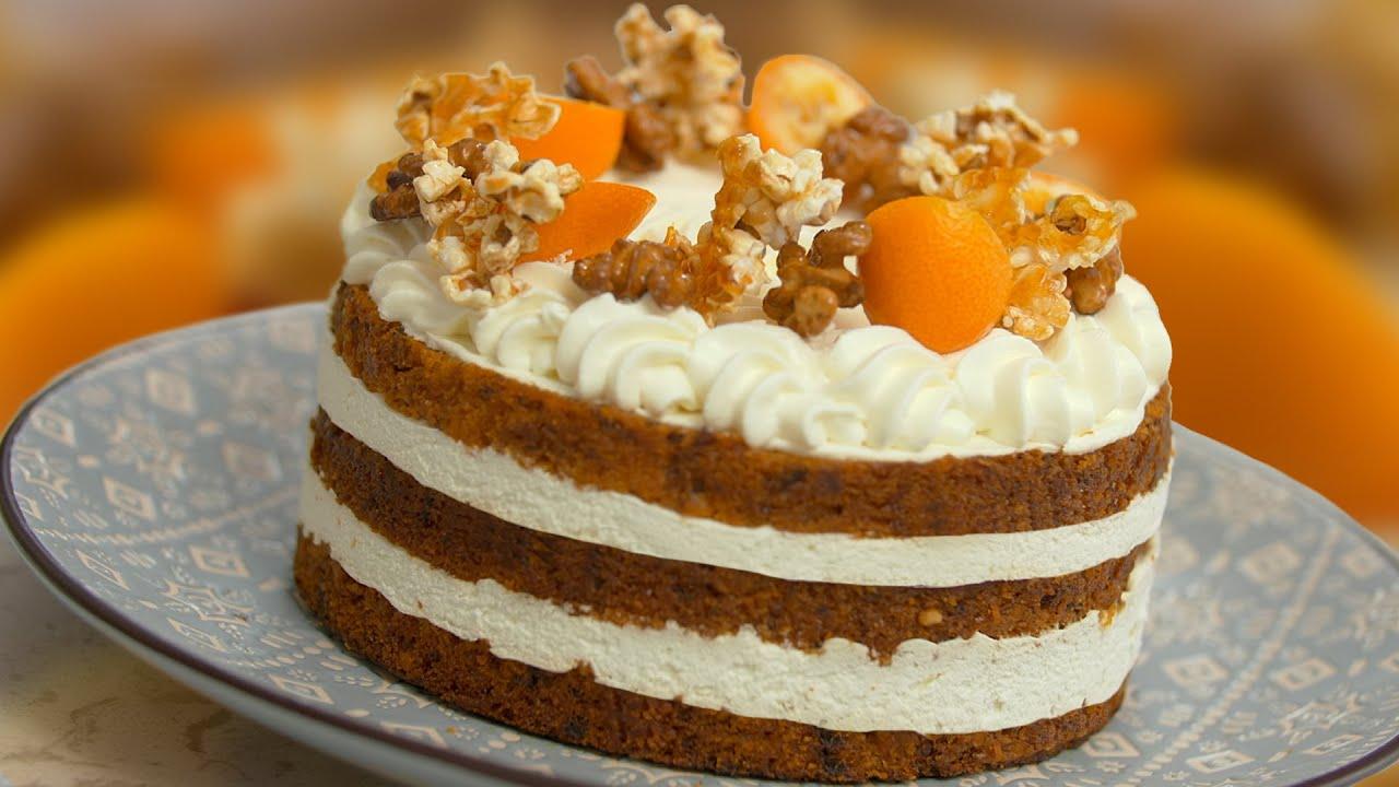 МОРКОВНЫЙ ТОРТ 🍰 Рецепт БЕЗ ЯИЦ☝️ МИНИМУМ сахара, но очень ВКУСНО😋 Десерт от Лизы Глинской😉