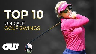 Top 10: UNIQUE Golf Swings | Golfing World