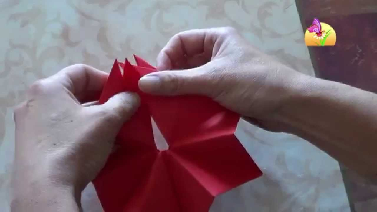 Stella di carta per natale in 3d hd for Youtube lavoretti per natale