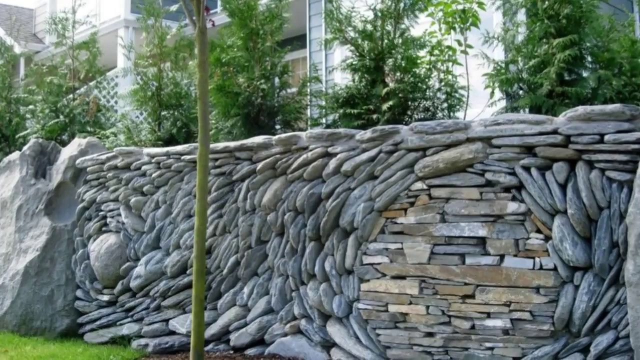 Front Garden Wall Design at Home Ideas - YouTube