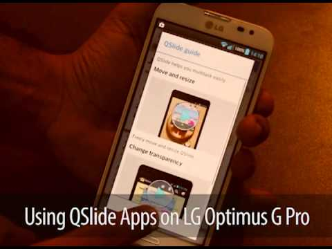 How To Use Qslide Apps On Lg Optimus G Pro Youtube