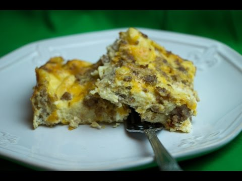 Simple Egg And Sausage Casserole Recipe