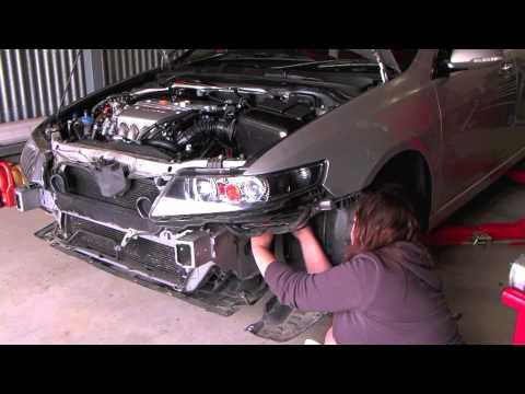 Mugen Intake Installation on Honda Accord Euro CL9 - YouTube