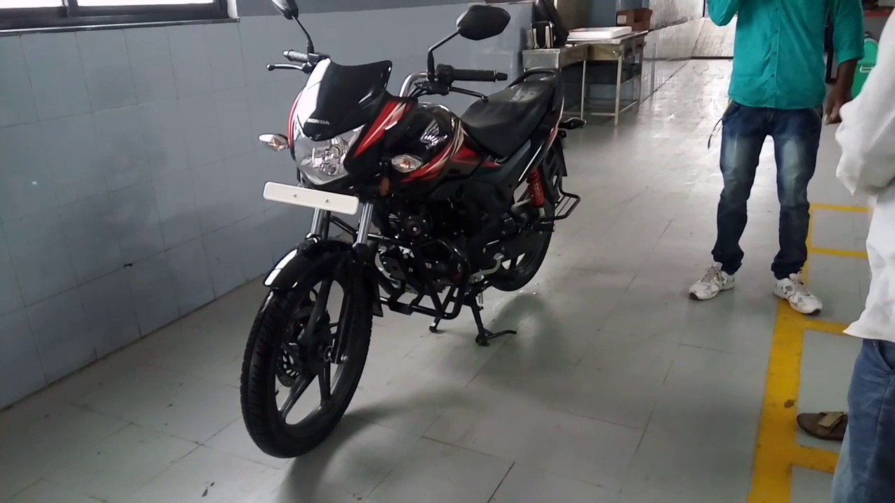 Honda Shine Sp 125 Review Five Gear Tyubeless Tyre Black Color With Red Grapics