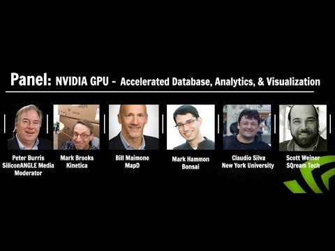 Panel - NVIDIA GPU - accelerated database, analytics, & visualization - #BigDataNYC 2016 #theCUBE
