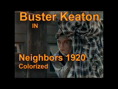 Buster Keaton: Neighbors 1920 Colorized with #DeOldify AI