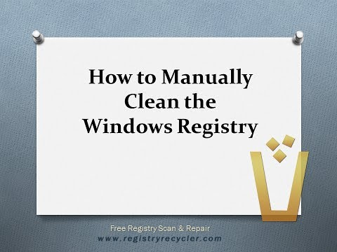 How to Manually Clean the Windows Registry