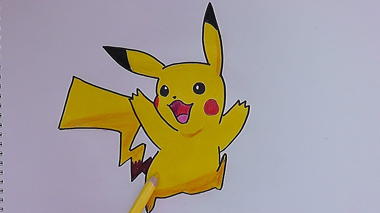 Dibujando y coloreando a Pikachu (Pokemon) - Drawing and coloring ...