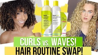 CURLS vs WAVES! Hair Routine Swap w/ India Batson | BiancaReneeToday