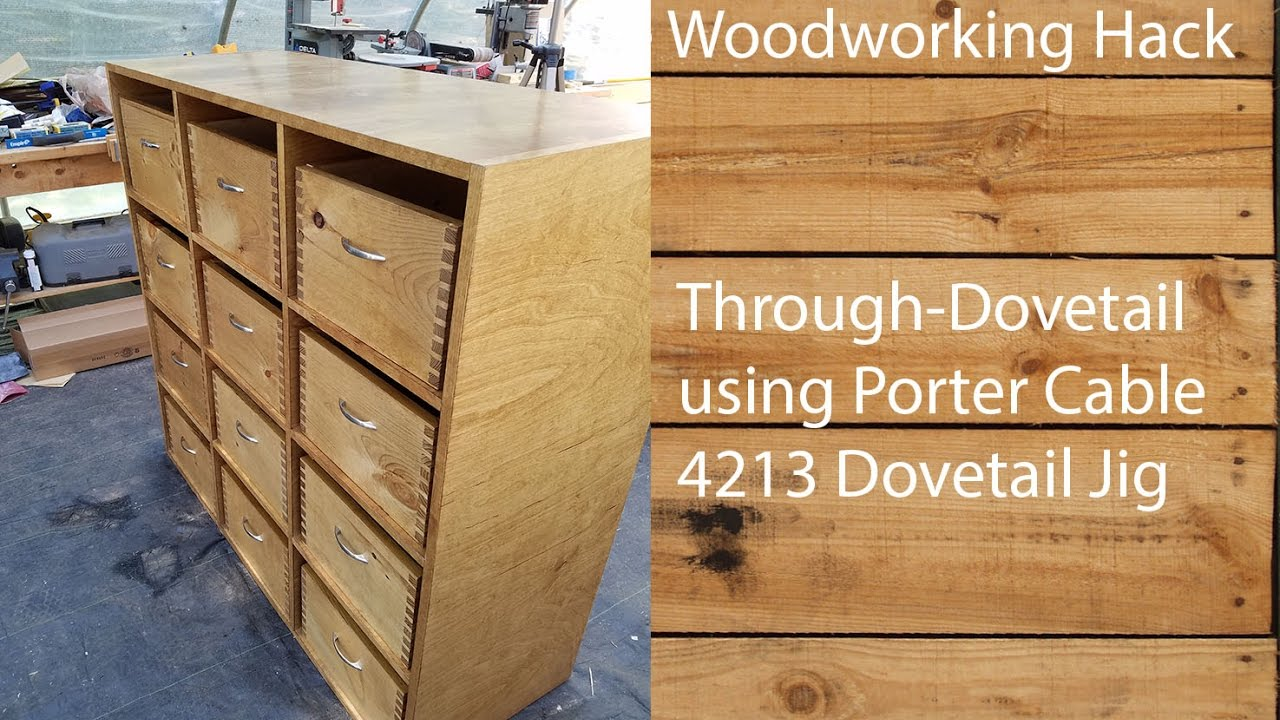 Building a Through Dovetail Drawer / Box using Porter Cable 4213 Jig ...