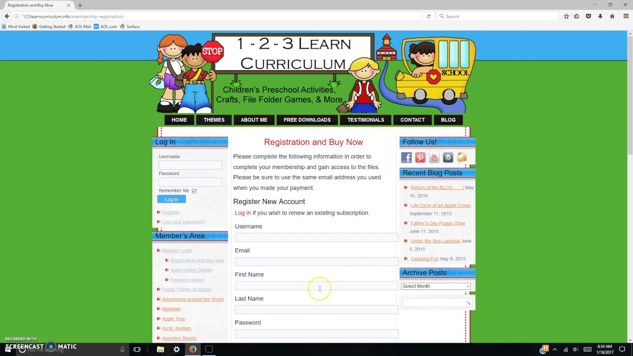 123 learn curriculum How to purchase 123 Learn Curriculum Membership - YouTube