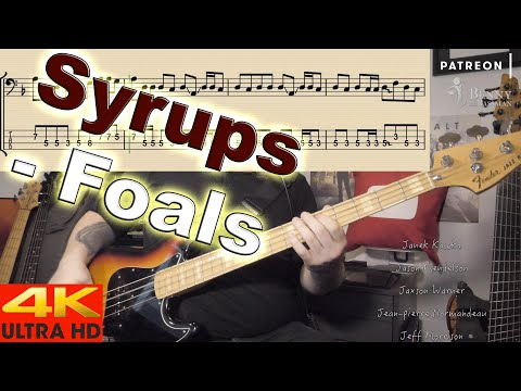 Foals - Syrups [BASS COVER] - With Notation And Tabs
