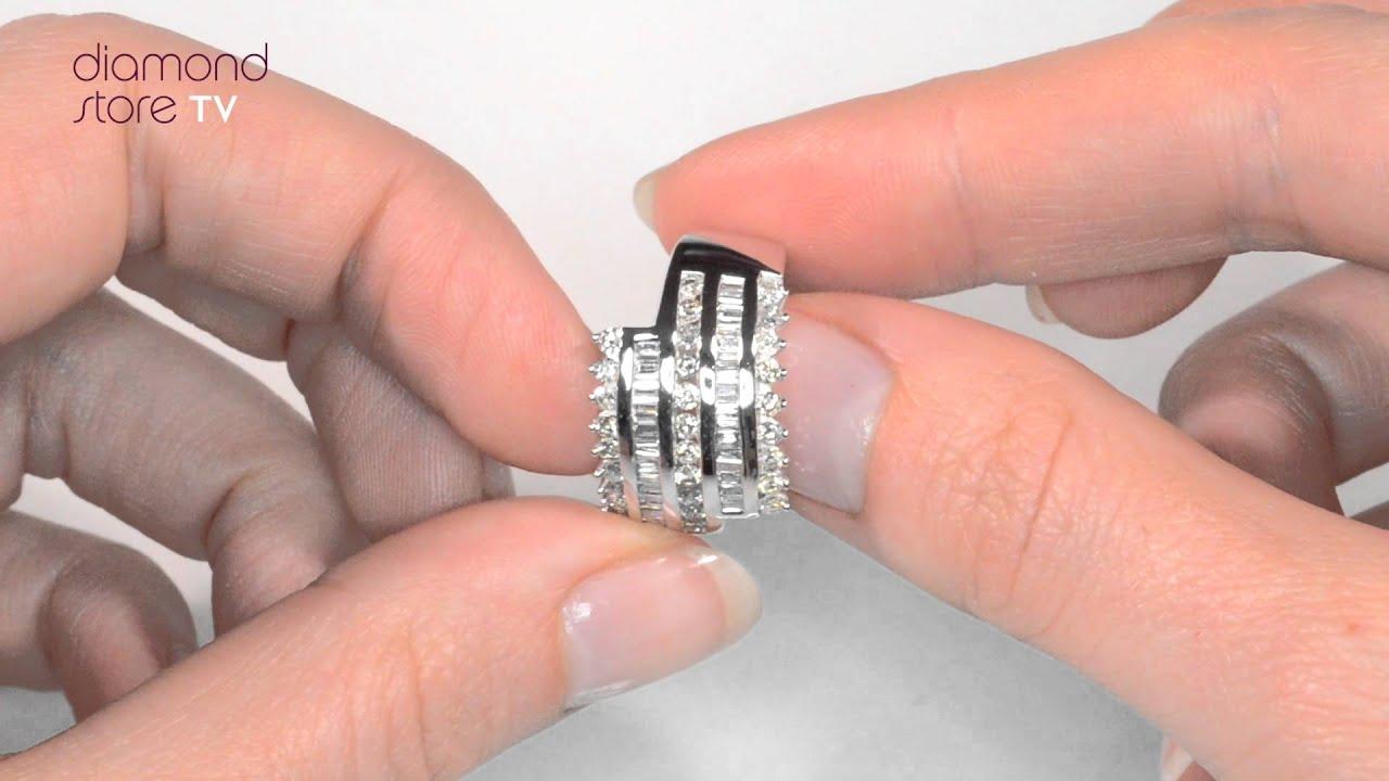 E4966 - 1ct Mixed Setting Big Fancy Diamond Ring In 9K White Gold ...