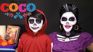 Disney Pixar Coco Imelda Makeup Tutorial Makeover Miguel Disney princess Makeup toys juguetes niños