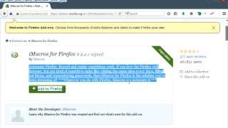 Tutorial Install iMacrosc.rar Facebook Script Mozilla and Chrome