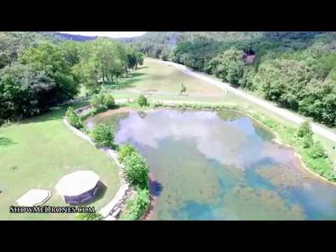 Aerial view of the pond on Woods Fork Road South of Ozark, MO