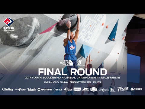 Male Junior • Finals • 2017 Youth Bouldering Nationals • 2/12/17 12:22 PM