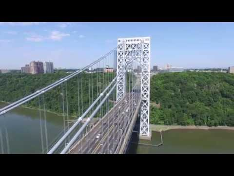 Drone view of George Washington Bridge, New York/New Jersey