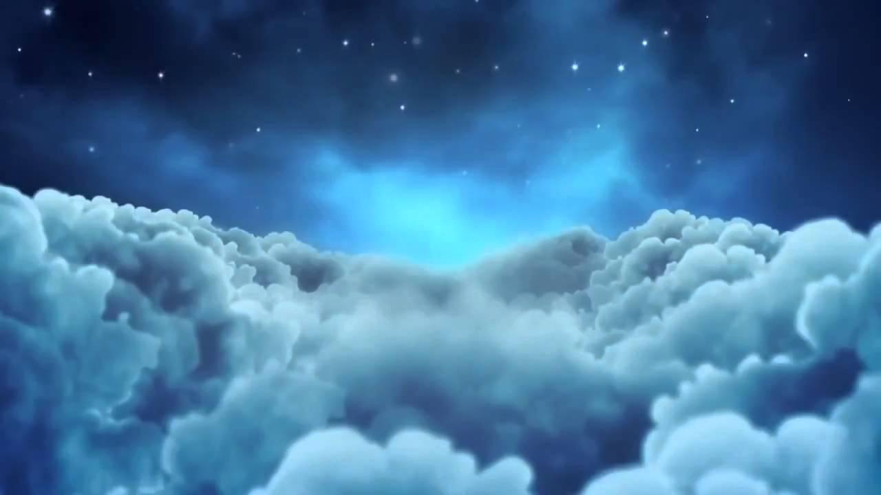 Мультяшное ночное небо Облака ФУТАЖ - YouTube