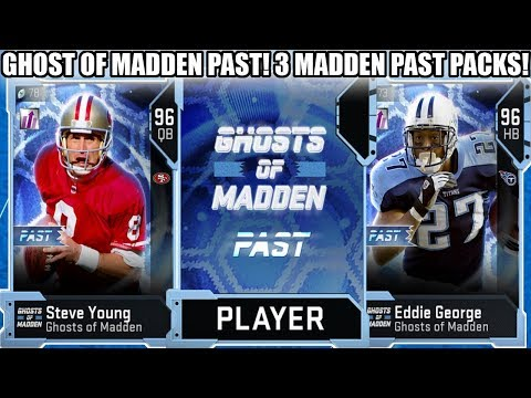 GHOST OF MADDEN PAST! 3 GHOST OF MADDEN PAST PACKS! STORE POWER UP PASS! | MADDEN 19 ULTIMATE TEAM