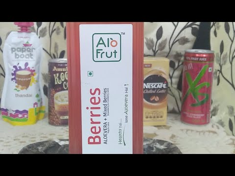 AloFrut Berries Fruit Juice : Nutritional Value and Live Review (Hindi) (Live Video)