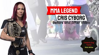 Mma Legend Cris Cyborg With Celebrity Dog Trainer Nick White! Insane Distractions!