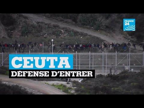 Ceuta : un millier de migrants tentent de passer la frontière