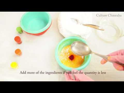 How to make Dry Organic Holi/Rangoli Colours