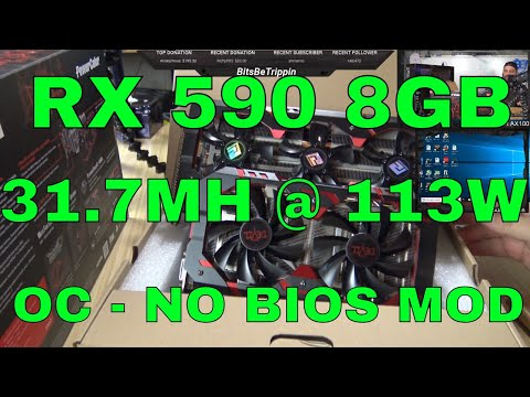 Crypto Mining On The RX 590 Red Devil ETH/ETC Power And Tweaks