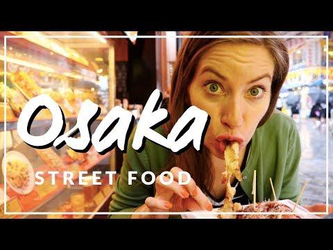 Japanese Street Food Tour in Osaka, Japan