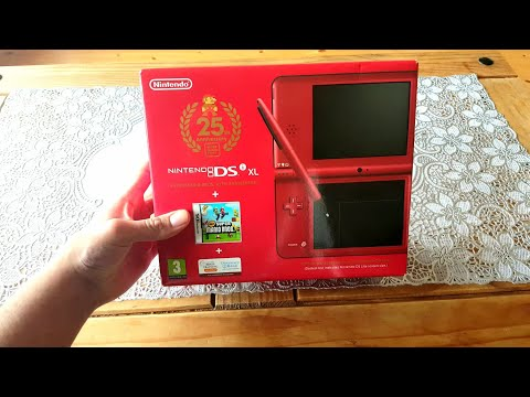 brand-new-nintendo-dsi-xl-25th-anniversary-mario-edition-unboxing-&-gameplay-in-2019