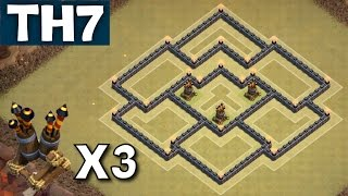 TH7 War Base WITH 3 AIR DEFENCES Update Town Hall 7 Coc - Clash of Clans