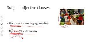 subject adjective clauses