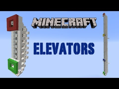 Minecraft Piston Elevator Small and Multi Floor for 1.7.4