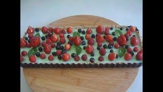 Тарт без выпечки с ягодами. Маринкины творинки