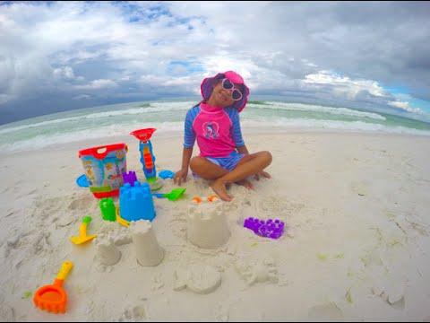Beach Fun Playtime Bucket Playset Toys Sand Castle Emerald Coast Sandestin Florida Academy You