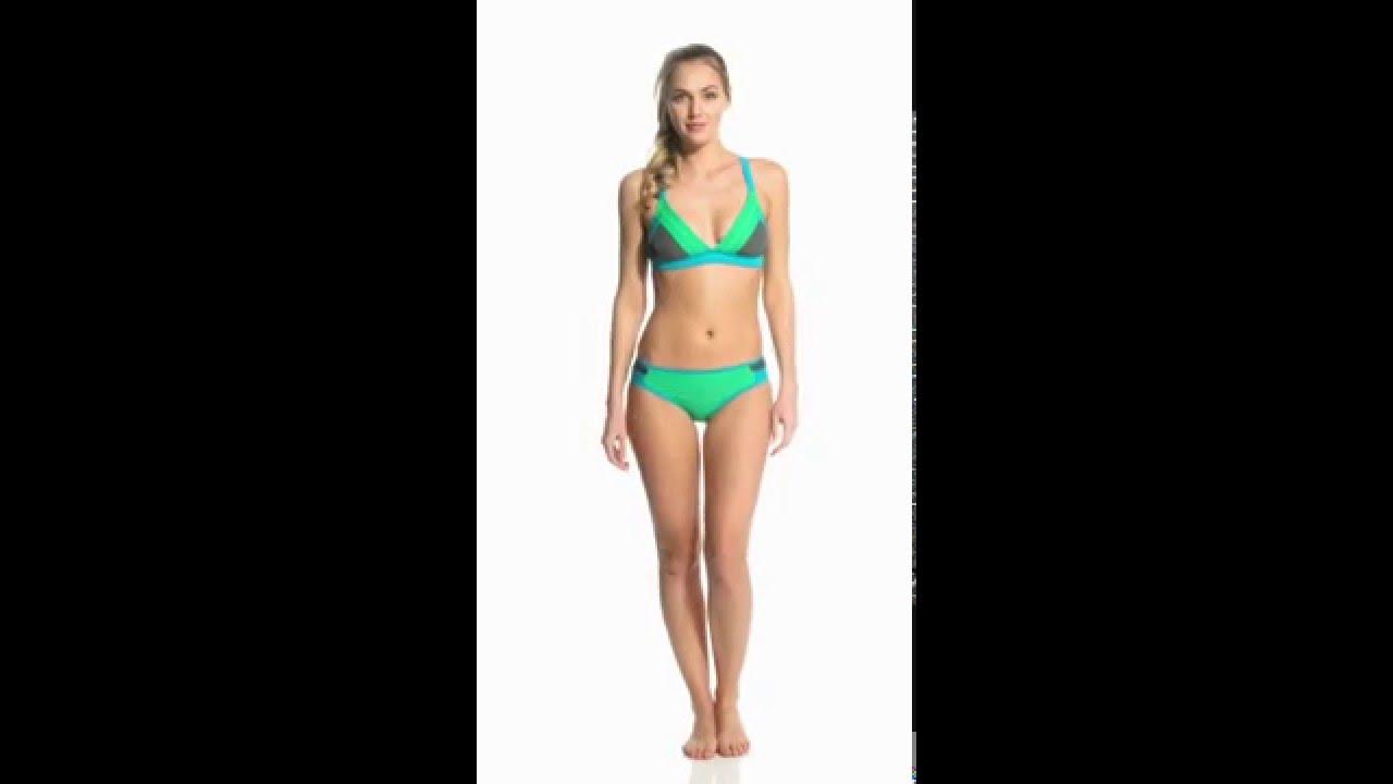 56cb7cdc75 Prana Women s Colorblock Atla Sports Bra Bikini Top